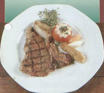 steak braten und dann im ofen garen